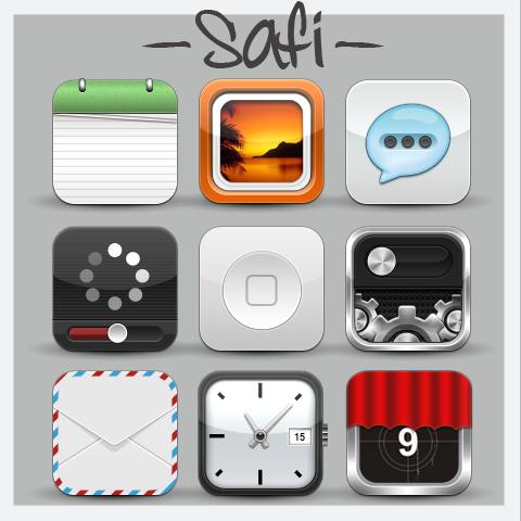 Safi HD [iOS Springboard Theme]