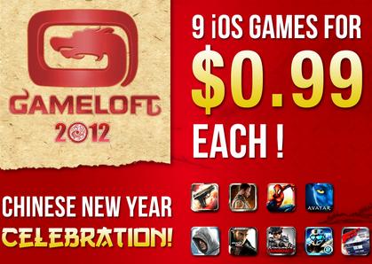 Jahr des Drachen: 9 iOS Games von Gameloft um 0,79 €