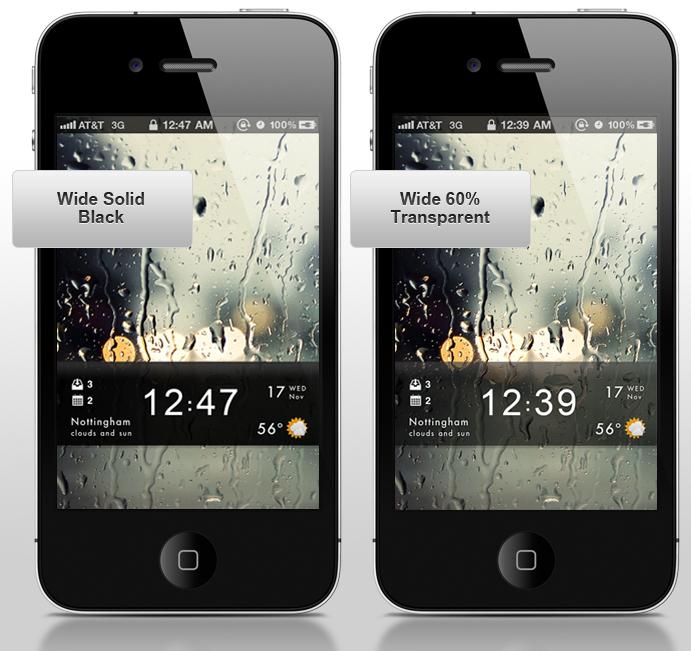 Stock Modified HD LockScreen für iPhone