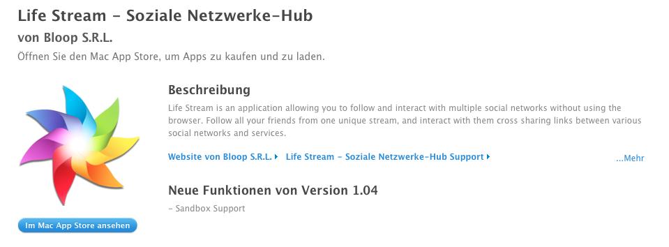 Life Stream: Soziale Plattformen in einer App!