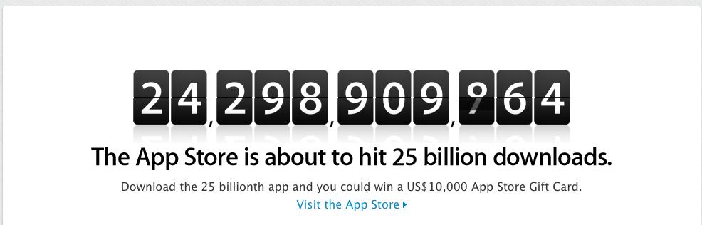 25 Milliarden App Store Apps
