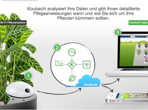 Bewässerung Infos via Smartphone