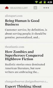 Readability für Android veröffentlicht