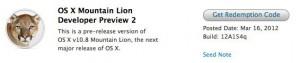 Mountain Lion Developer Preview 2 erschienen
