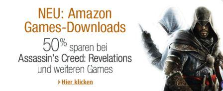 Amazon startet Games & Software Download-Shop mit 50 Prozent Rabatt auf TOP Spiele