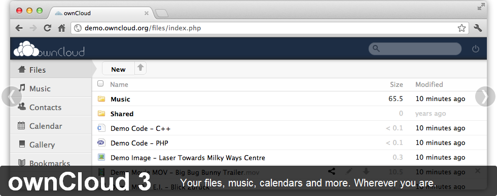 owncloud files