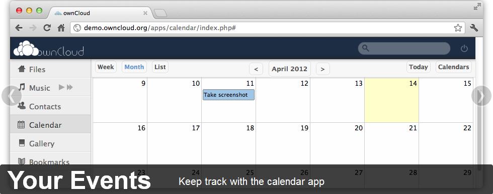 owncloud calendar