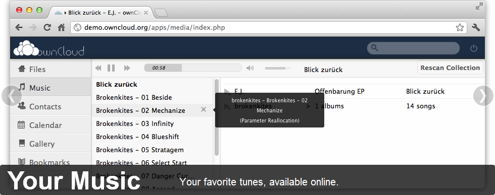owncloud music 2