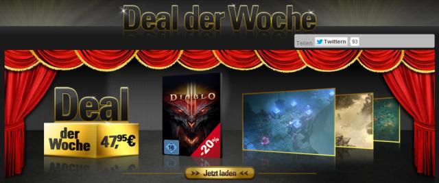 Games: Diablo 3 um 20 Prozent verbilligt [Deal]