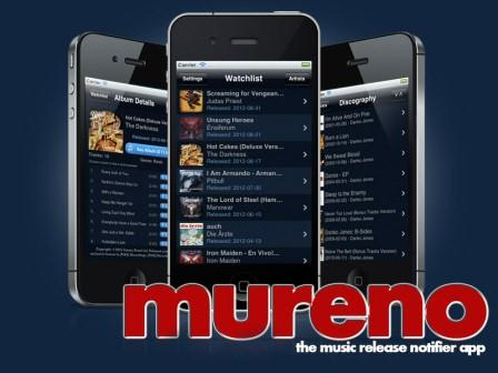 mureno - the music release notifier app für iPhone