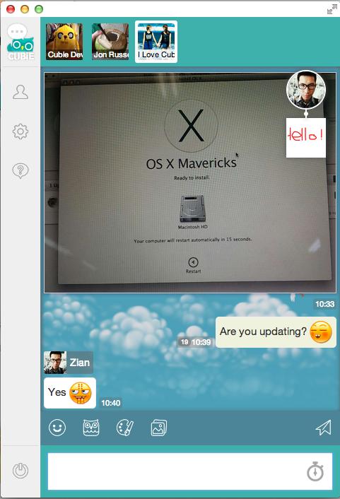 Cubie_Messenger_Lite-Der Desktop_Client_Screenshot