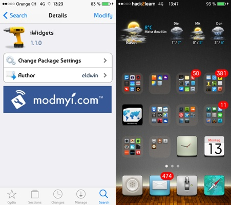 iWidgets-Cydia-Tweak