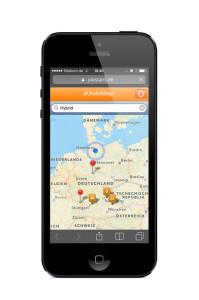 Die JobMap mit einer Umkreissuche ist eines der Features, mit denen die neue App überzeugt.