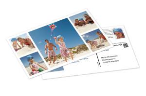 Eine Postkarte im Format XL macht den Daheimgebliebenen große Freude.