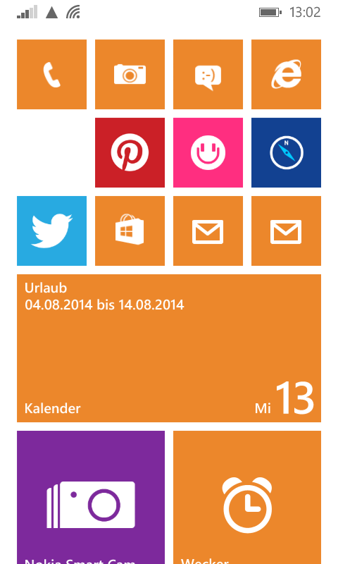 Windows-Phone-8.1-Startseite