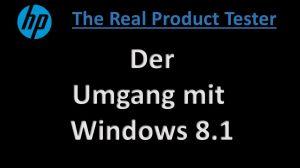 umgang mit Windows 8.1