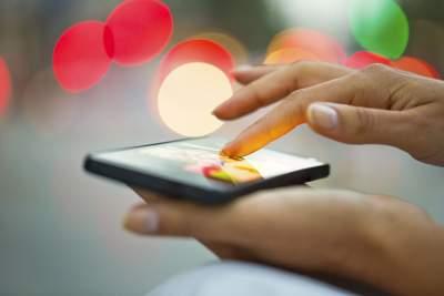Smartphone Mit einem Fingerwisch zwischen den Welten wechseln
