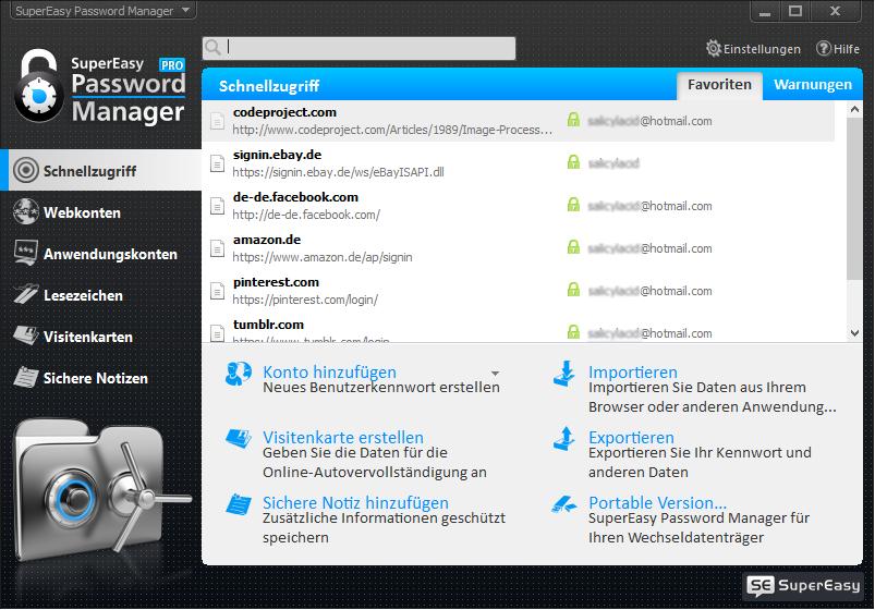 supereasy-password-manager-startscreen