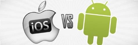 Vergleichcharakteristik der Spiele für iOS und Android